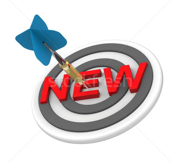 синий дартс целевой текста новых продукт Сток-фото © ppart