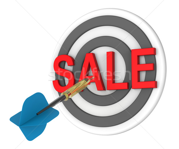 Blue dart hiting a target with text on it Stock photo © ppart