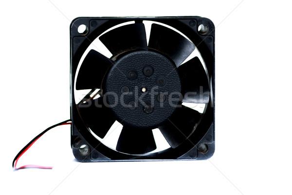 Bilgisayar fan yalıtılmış vermek beyaz teknoloji Stok fotoğraf © prajit48