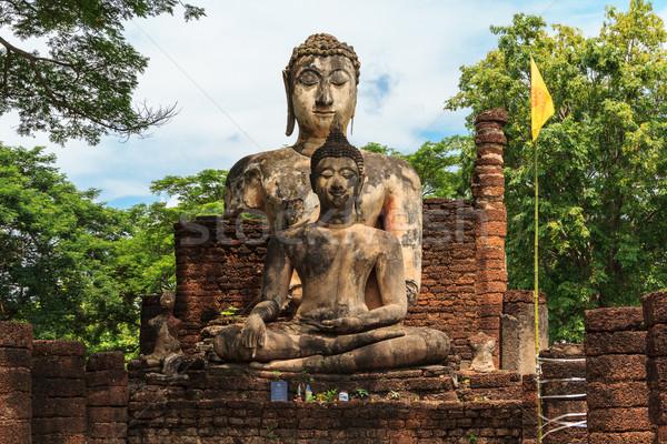 Buda heykel tapınak tarihsel park Bina Stok fotoğraf © prajit48