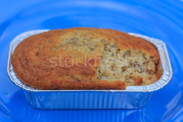 Muz çörek kekler kahvaltı kâğıt doğum günü Stok fotoğraf © prajit48