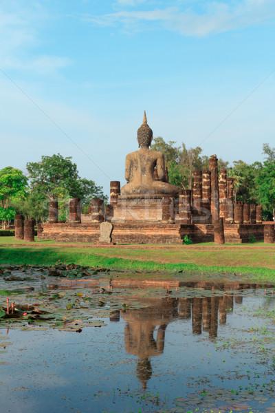 Tarihsel park Tayland su ağaç Stok fotoğraf © prajit48