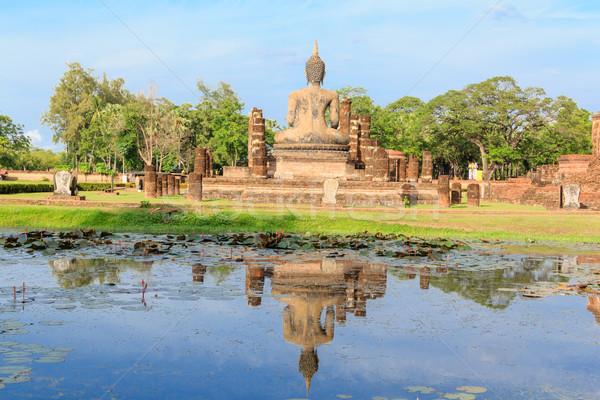 Buda heykel tapınak tarihsel park seyahat Stok fotoğraf © prajit48
