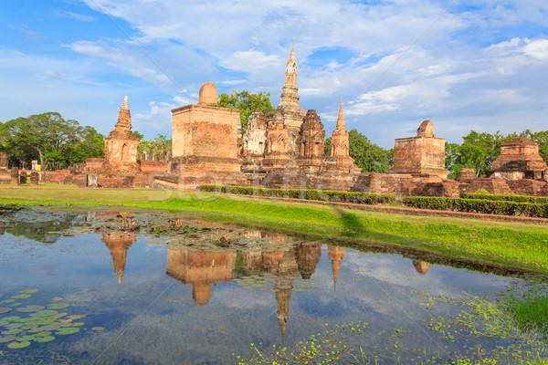 Tarihsel park Tayland yıl su Stok fotoğraf © prajit48