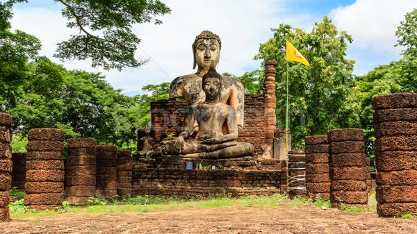 Buda heykel tapınak tarihsel park Tayland Stok fotoğraf © prajit48