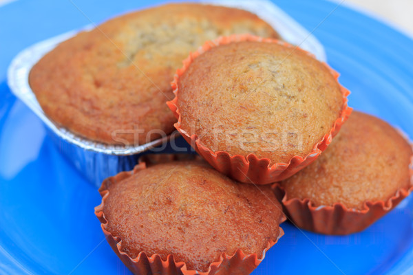 Dört muz çörek kekler kahvaltı kâğıt Stok fotoğraf © prajit48