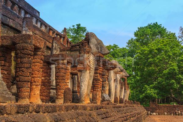 Tarihsel park Tayland ağaç şehir Stok fotoğraf © prajit48