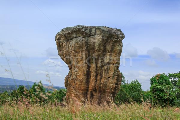 Détail pierre ruines religieux touristiques anciens Photo stock © prajit48