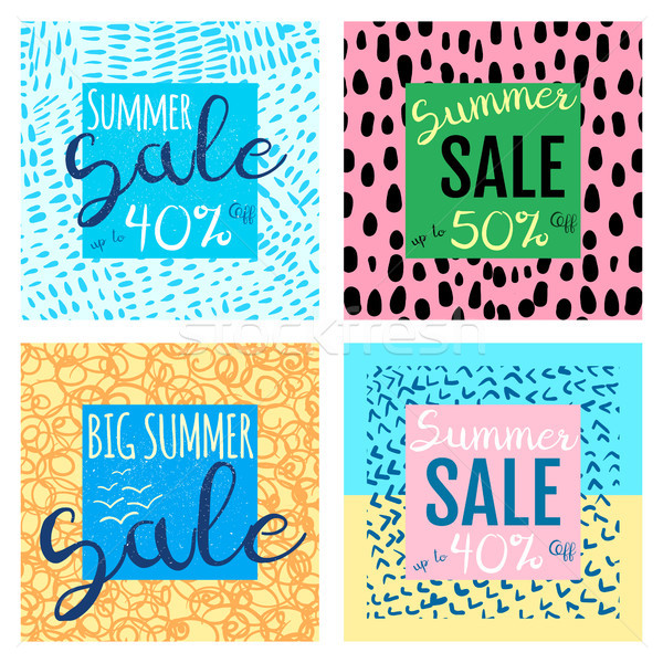 Stock photo: Vector summer sale banners templates for shop promotions