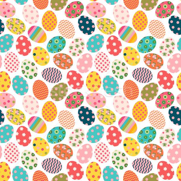 Bonitinho colorido páscoa pintado ovos Foto stock © Pravokrugulnik