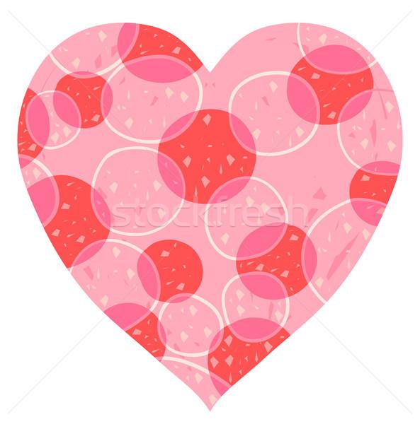 ストックフォト: ベクトル · 中心 · デザイン · ピンク · 赤 · バレンタインデー