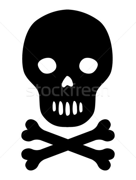 Vecteur noir silhouette crâne os icône Photo stock © Pravokrugulnik