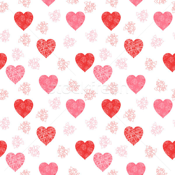 Cute and modern Valentine's day vector pattern with hearts  Stock photo © Pravokrugulnik