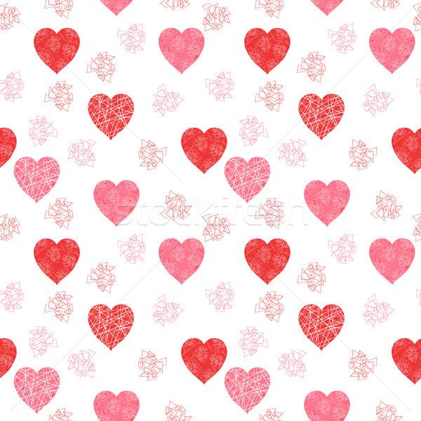 Bonitinho moderno dia dos namorados vetor padrão corações Foto stock © Pravokrugulnik