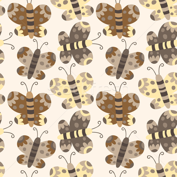 Vector vlinder bruin Geel camouflage Stockfoto © Pravokrugulnik