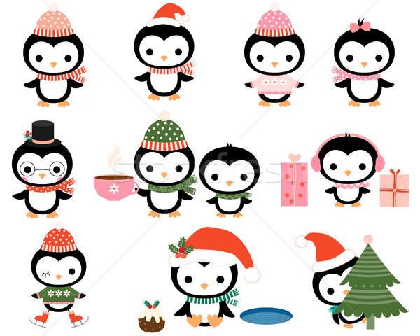 Сток-фото: Cute · Рождества · наушники · очки · коньки