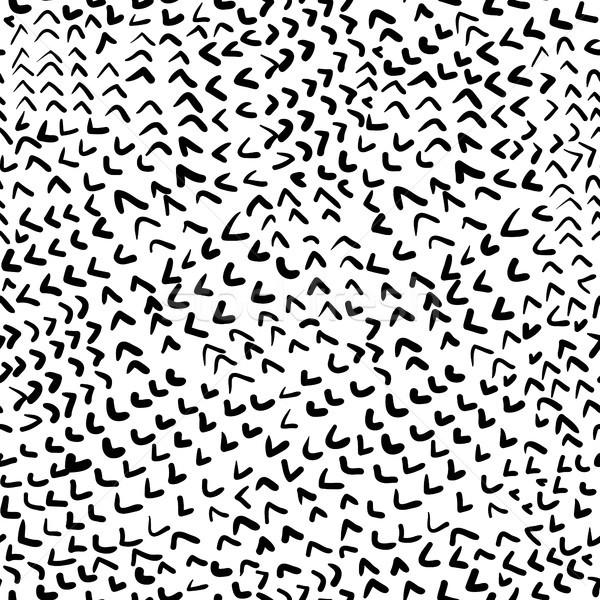 Vektor végtelen minta kézzel rajzolt fekete fehér textil Stock fotó © Pravokrugulnik