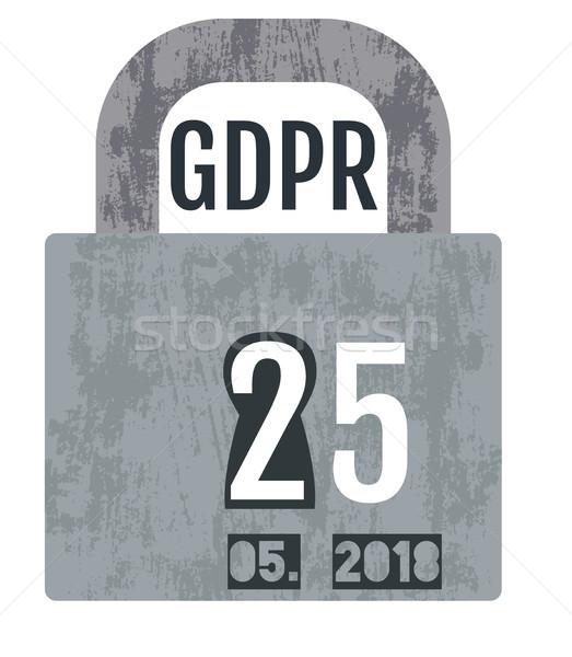 General Data Protection Regulation - GDPR concept design  Stock photo © Pravokrugulnik
