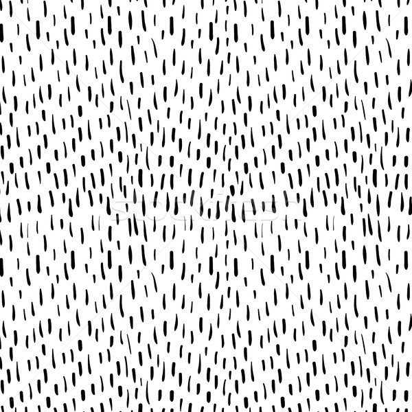 Hand drawn vector doodle pattern with black lines Stock photo © Pravokrugulnik