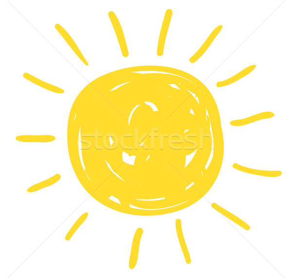 Simple vector sun drawing in flat doodle style for icons  Stock photo © Pravokrugulnik
