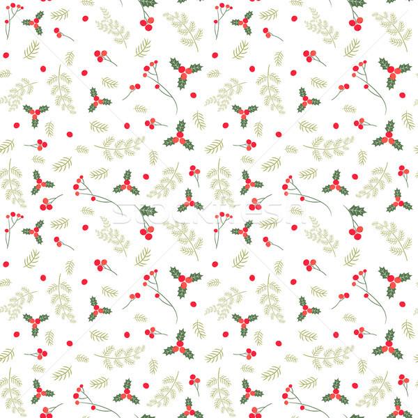 Vector Navidad invierno diseños tejido Foto stock © Pravokrugulnik