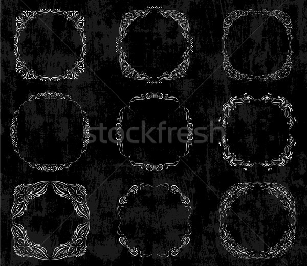 Vettore set lavagna fotogrammi Foto d'archivio © Pravokrugulnik