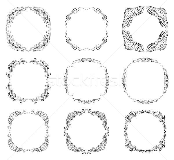 Calligraphic, ornate borders and frames Stock photo © Pravokrugulnik