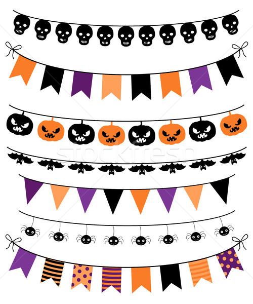 Vector banners, bunting and garlands for Halloween Stock photo © Pravokrugulnik