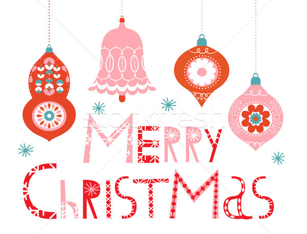 Bonitinho vetor sem costura natal cartão Foto stock © Pravokrugulnik
