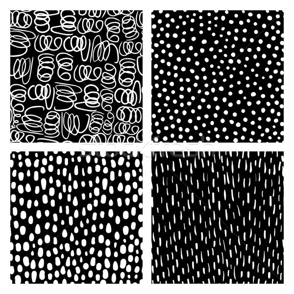 Vetor rabisco conjunto preto e branco moderno Foto stock © Pravokrugulnik