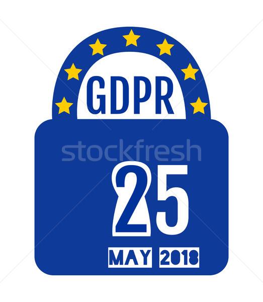 Général protection des données réglementation design cadenas affaires Photo stock © Pravokrugulnik