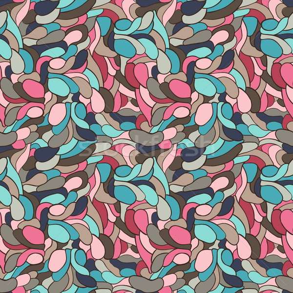 Abstract vector background or seamless pattern with hand drawn curvy geometric shapes for clothing a Stock photo © Pravokrugulnik