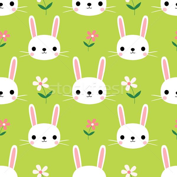 Cute flores verde Pascua primavera Foto stock © Pravokrugulnik