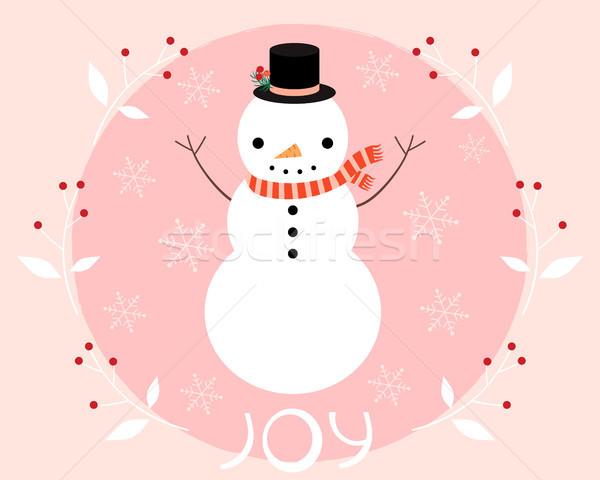 ストックフォト: クリスマス · ベクトル · グリーティングカード · 冬 · 休日