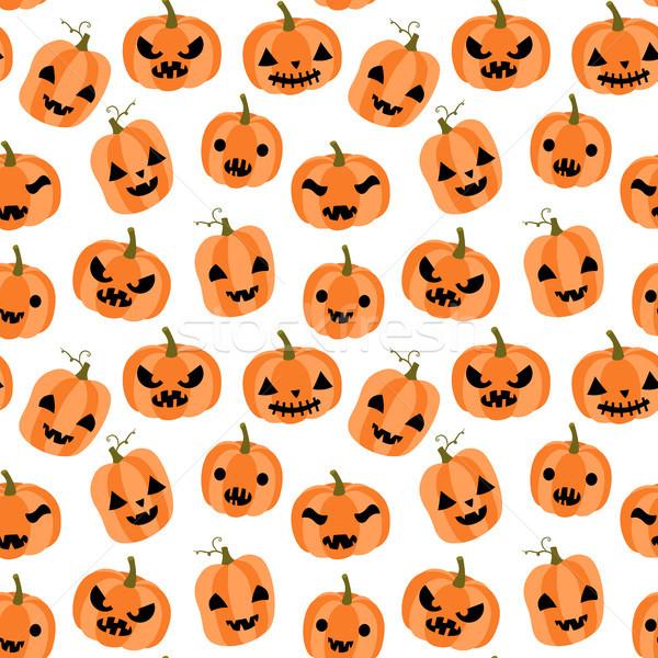 Aranyos vicces vektor végtelen minta halloween rajz Stock fotó © Pravokrugulnik