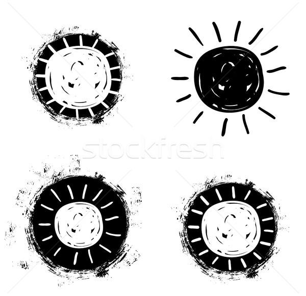 Semplice vettore sole disegno icone doodle Foto d'archivio © Pravokrugulnik