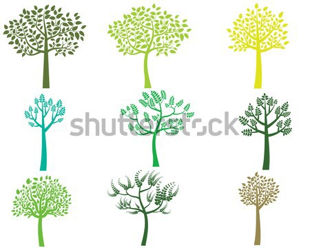 Stilizate vector siluete izolat alb Imagine de stoc © Pravokrugulnik