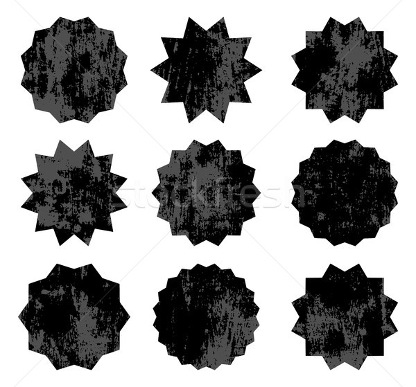 Conjunto preto vetor velho símbolos vintage Foto stock © Pravokrugulnik