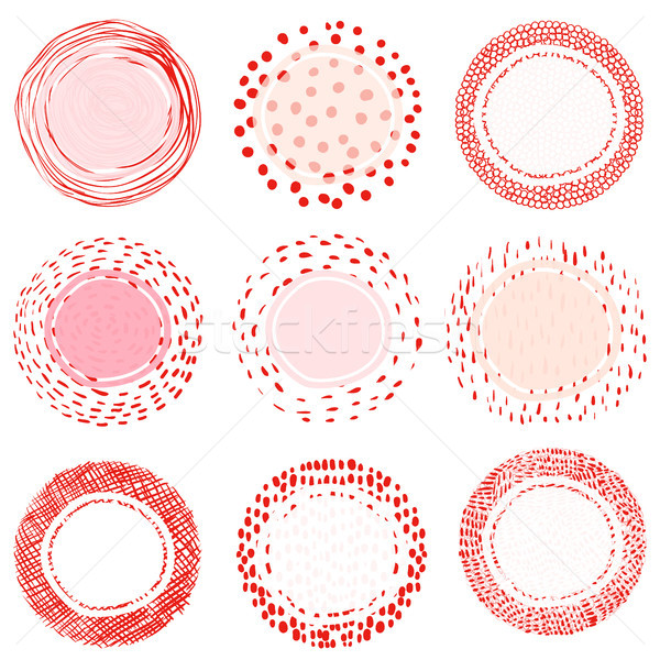 Elegant artistic vector labels or tags with lines, dots  Stock photo © Pravokrugulnik