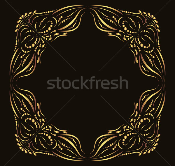 Calligraphic vector frame for invitations and luxury labels Stock photo © Pravokrugulnik