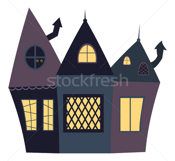 Casa halloween disegni stile Foto d'archivio © Pravokrugulnik