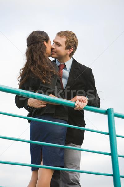 Bliskość Fotografia dość dziewczyna chłopak Zdjęcia stock © pressmaster