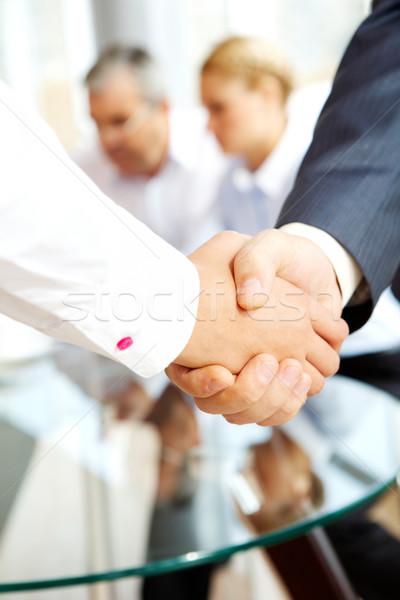 Photo stock: Accord · gens · d'affaires · bureau · affaires