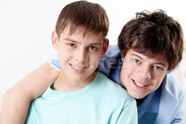 Due amici ritratto felice ragazzi adolescenti ragazzi Foto d'archivio © pressmaster