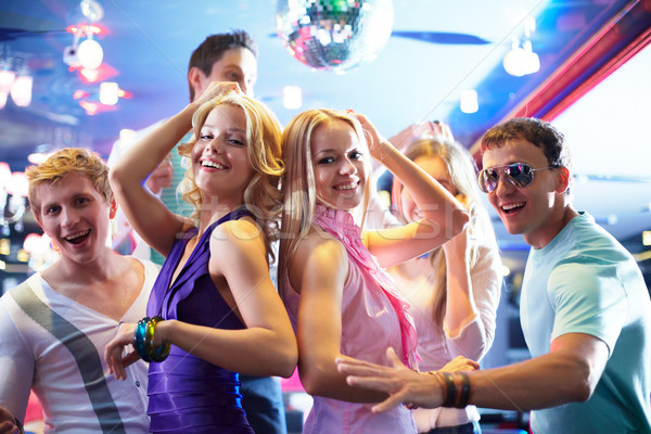 Stockfoto: Dansen · meisjes · portret · vrolijk · partij · gelukkig