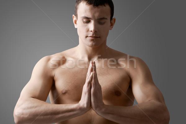 Man meditating Stock photo © pressmaster