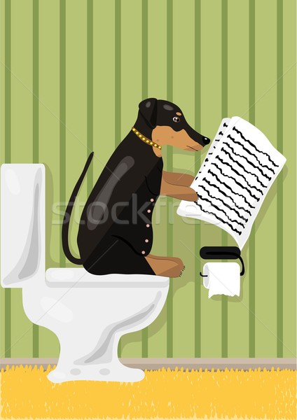 Dog reads news  Stock photo © pressmaster