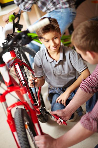 Bike repair service Stock photo © pressmaster