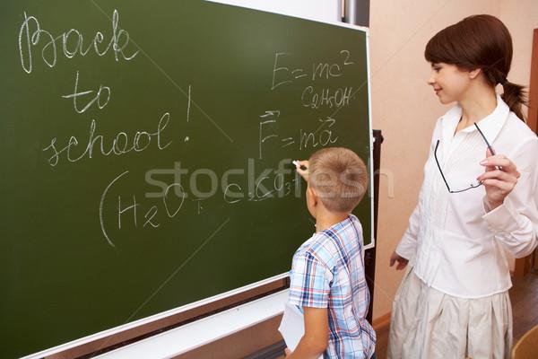Ders fotoğraf temel öğrenci yazı tahta Stok fotoğraf © pressmaster