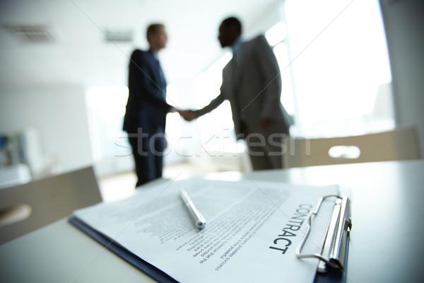 дело изображение бизнеса договор два Сток-фото © pressmaster